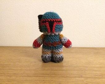 READY TO SHIP - Boba Fett - Star Wars Mini Amigurumi Christmas Tree Ornament