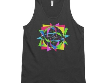 Slice of Pi Tank - 100% Ring-Spun Cotton Tank Top- Single or Double Print- Made in USA