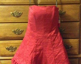 Red Taffeta Party Dress