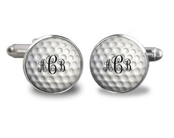 Monogram Golf Ball Handmade Cufflinks