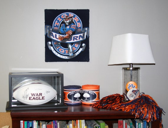 Auburn University Tigers 11 x 14 CANVAS WALL ART from Upcycled