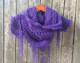 Purple Triangle Scarf/Shawl