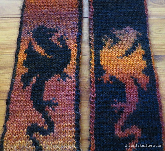 Knit Dragon Pattern : Knitting Pattern Fire Dragon Scarf