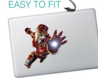 Flying Ironman Macbook Stickers | Laptop stickers | Macbook Decal - self adhesive vinyl stickers