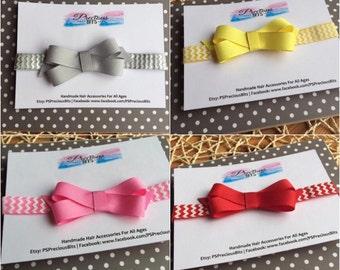 Grosgrain bow headband - Baby Headband, Toddler headband, Newborn Headband, School Headband