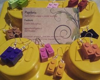 LEGO earrings cororati