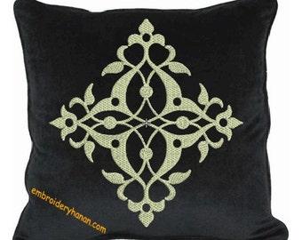 damask A PILLOW machine embroidery designs 5 size 4x4-5x5-6x6-7x7-8X8