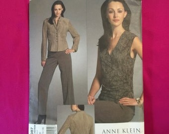 Vogue jacket, blouse and pants pattern sizes 10,12,14, 16