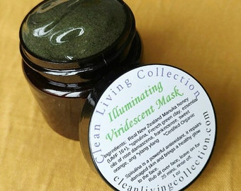 All Natural Illuminating Viridescent (Superfood) Mask made with REAL Manuka honey and Certified Organic Spirulina