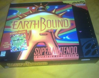 Snes Super Nintendo Earthbound Big box only, handmade, worldwide shipping!