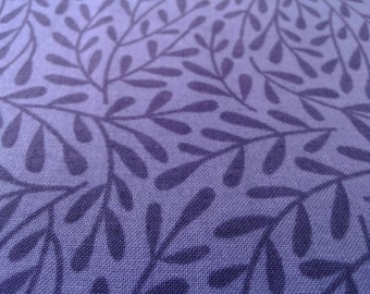 Organic Cotton Fabric, SALE Vines Navy deep purple, Cloud9, craftsman style, GOTS certified, by the yard, half yard, fat quarter
