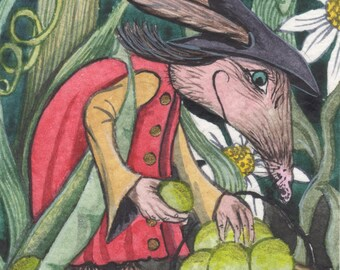 A4 Archival Print - 'Lairngen' - The Peffa-Oidy Garden Witch.