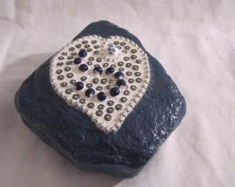Blue Mosaic Garden Rock
