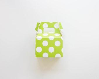 Green Polka Dot Mini Gable Boxes