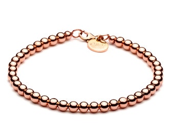Ball bracelet • 4 mm • Rosé gold