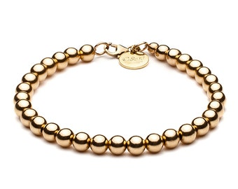 Ball bracelet • 5 mm • gold
