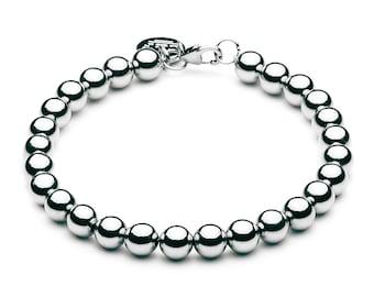 Ball bracelet • 6 mm • silver