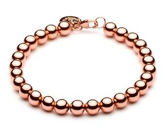 Ball bracelet • 6 mm • Rosé gold