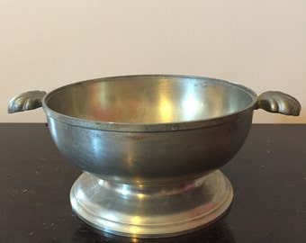 Vintage, Stamped, Pewter Drinking Bowl, Made in France