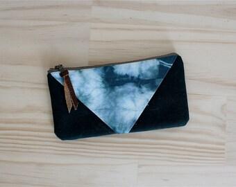hand dyed wallet. Tie dye. Phone Wallet.