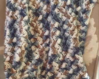 Multi-Colored Crochet Baby Blanket