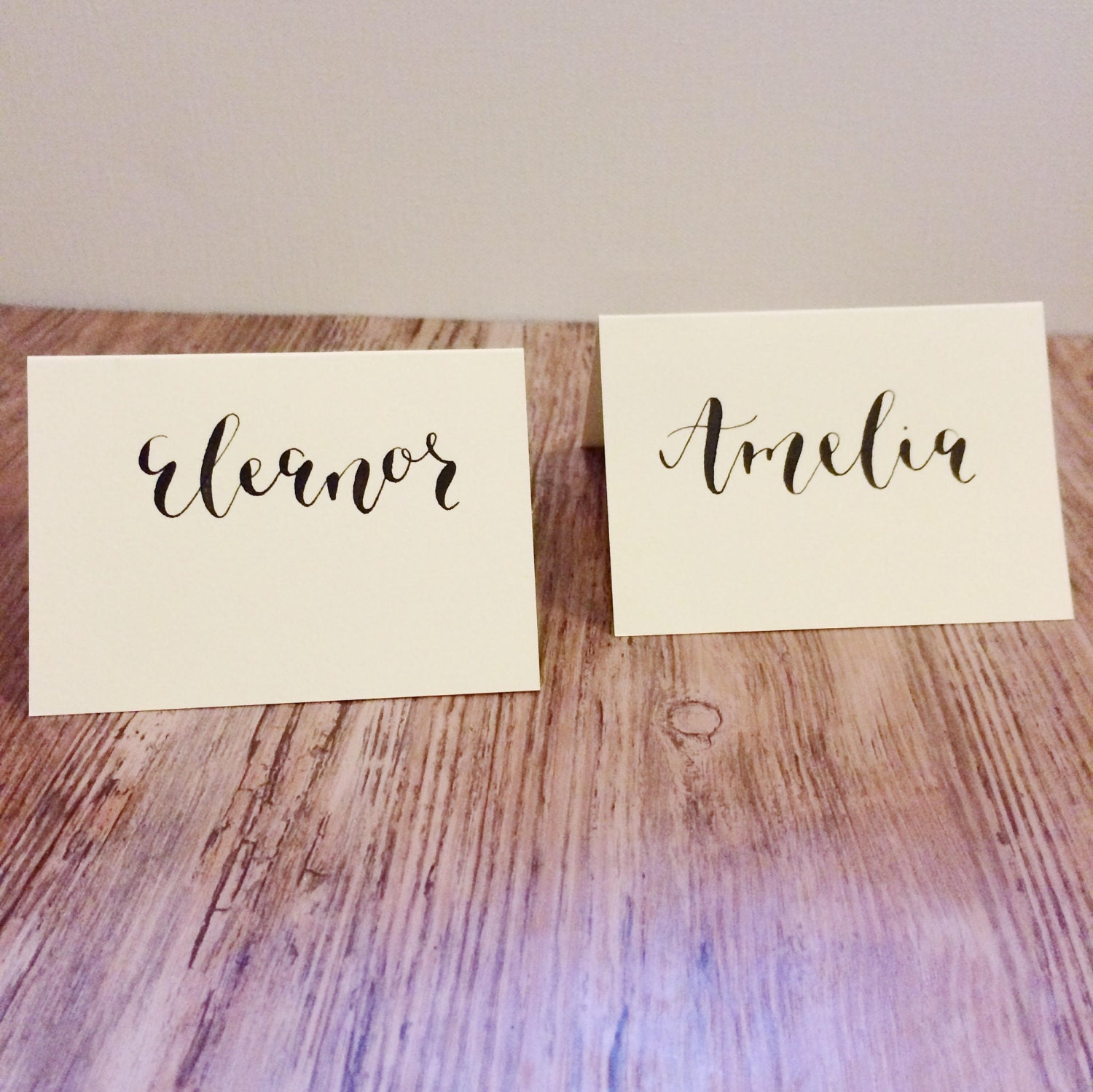 Place Card Calligraphy Wedding Place Card Calligraphy Wedding