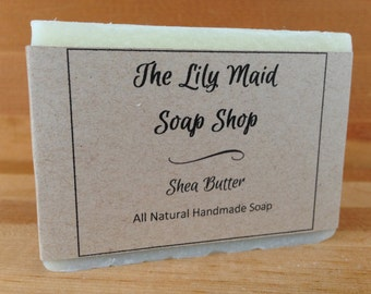 Shea Butter Soap, All Natural, Handmade Soap, Cold Process Soap, Homemade Soap