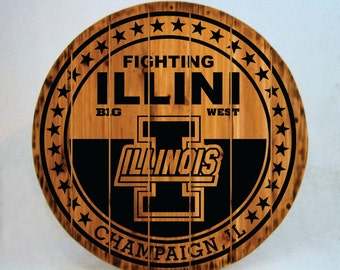 Fighting Illini Rustic Sign - Buy One - Get One - Free (Extended thru 2/7/16)