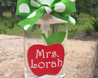 Personalized Teacher Hand Sanitizer/Teacher Gift
