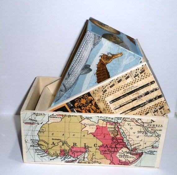 Decorative Recipe Box 2: Items Similar To Decorative Box Set Of 3