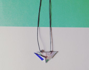 Origami XX coloured necklace