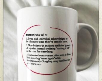 "Dictionary Definiton mug ""Runner"""