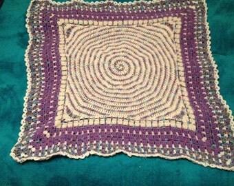 Square Spiral baby blanket