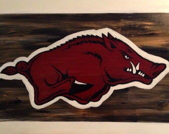 Arkansas Razorbacks Hog Painting