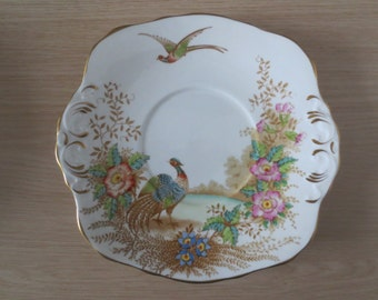 Old plate from the Sutherland pottery, circa 1936 to 1941