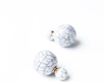 How to marble - howlite marble style earrings earrings