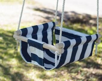 Indoor/Outdoor Single Fabric Swing
