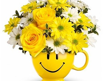 Be Happy  Bouquet. LOCAL DELIVERY to: 33160, 33180, 33154, 33162, 33179, 33004, 33009, 33019, 33020, 33021