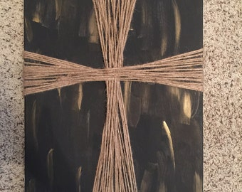 Jute Cross Canvas