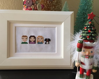 Four Person Custom Made-to-Order Cross Stitch