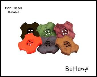 """3D printed """"Quatrefoil"""" button"""