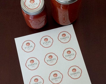 Tomato Labels. Pizza Labels. Canning Labels.