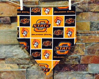 Oklahoma State Bandana Bib - Backed with Flannel