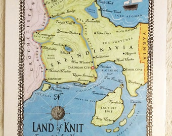 Land of Knit Map