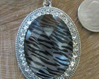 Blingy Zebra Necklace