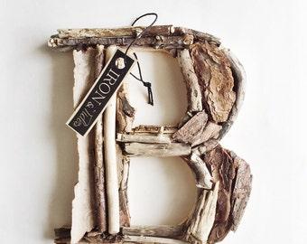 Driftwood Letter, Letter B, Driftwood Letters, Woodland Letter, Wood Letter,  Nursery Wall Letter, Wood Sign, Driftwood Sign, Rustic Wood