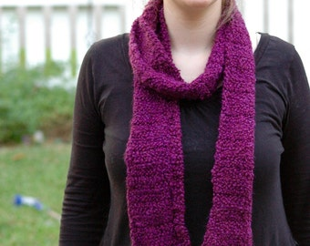 Plum multi wear scarf
