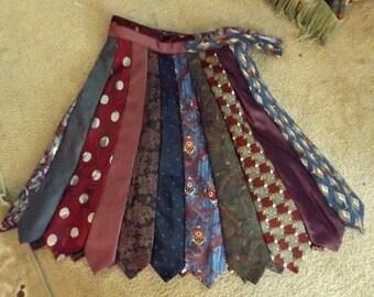 Unique Heirloom Handmade Tie Skirt has 24 Ties!