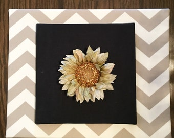 Large canvas with flower