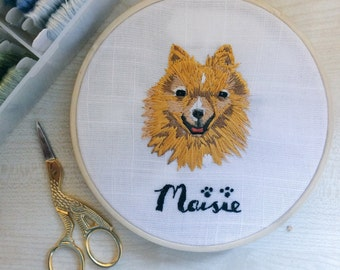 CUSTOM Hand-Embroidered Pet Portraits